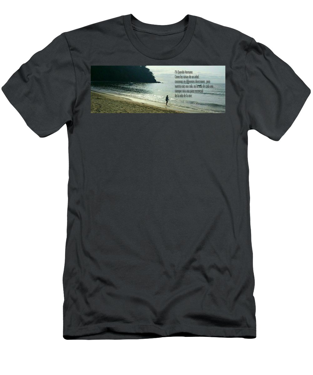 Icean Men's T-Shirt (Athletic Fit) featuring the photograph Mensaje A Una Hermano by Cheryl Wallace