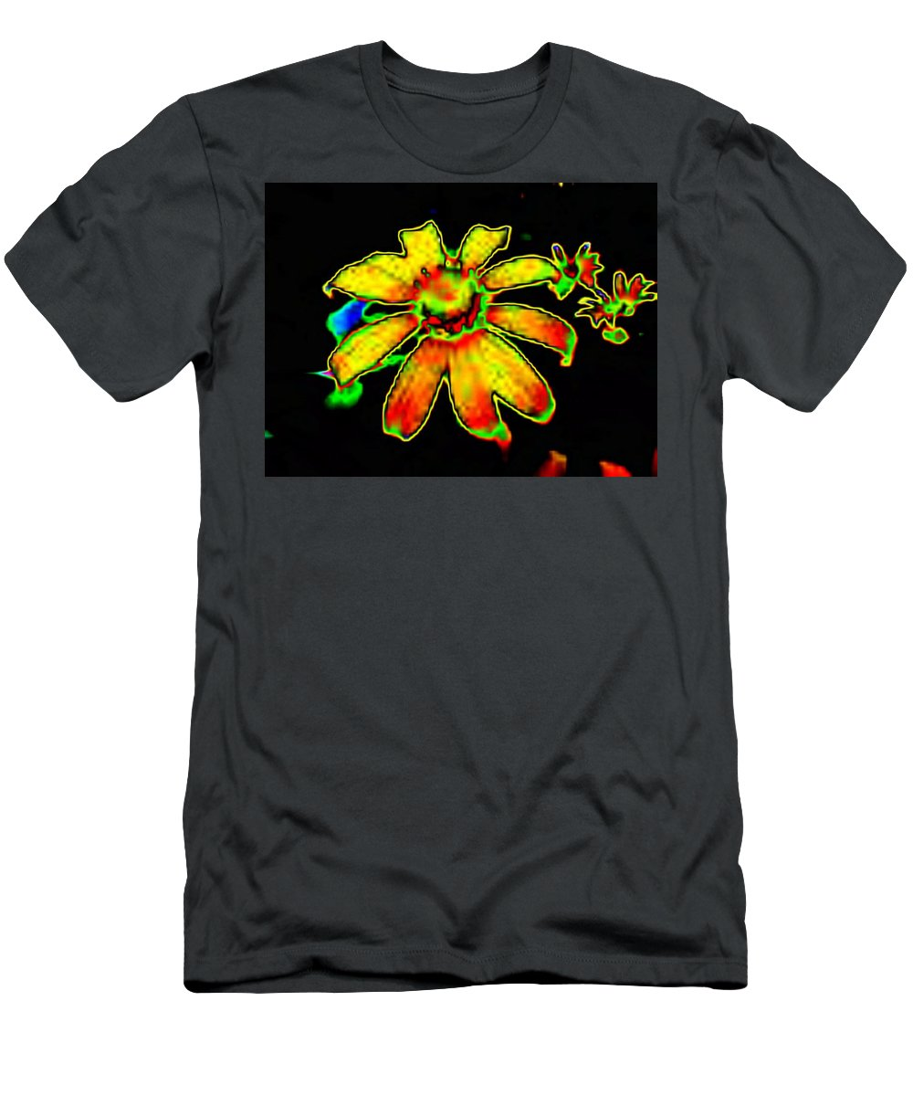 Sunflower Men's T-Shirt (Athletic Fit) featuring the photograph Mexican Sunflower by Tim Allen