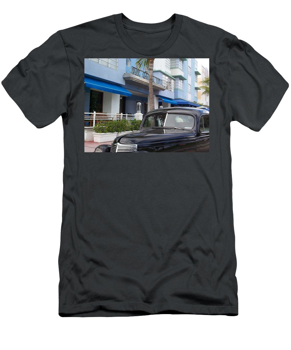 Charity Men's T-Shirt (Athletic Fit) featuring the photograph Miami Beach by Mary-Lee Sanders