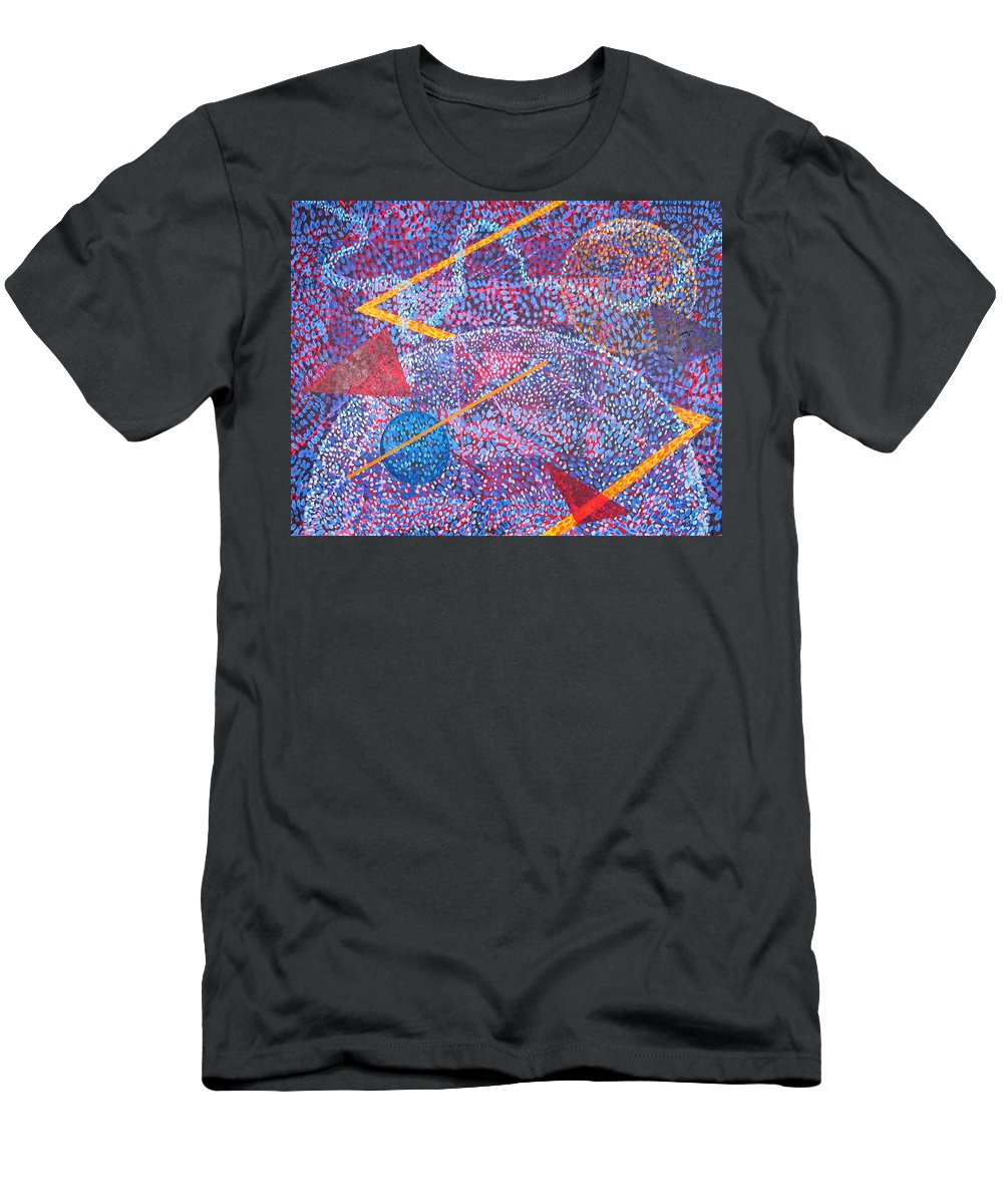 Abstract T-Shirt featuring the painting Microcosm XV by Rollin Kocsis