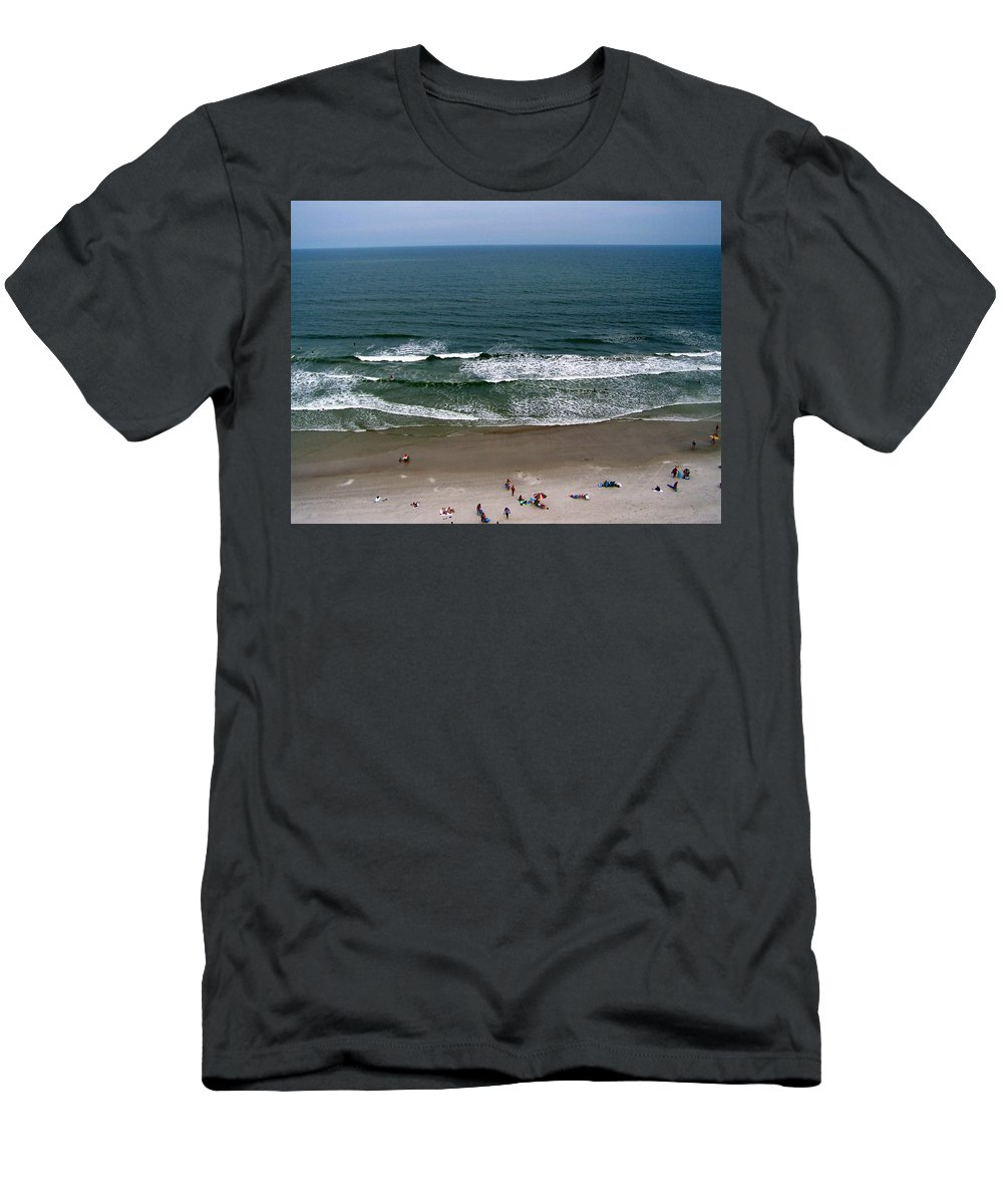 Ocean View Men's T-Shirt (Athletic Fit) featuring the photograph Mighty Ocean Aerial View by Patricia Taylor