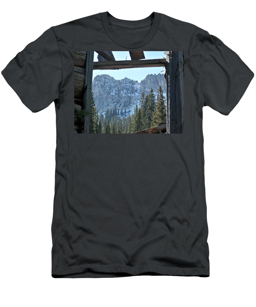 Mountain Men's T-Shirt (Athletic Fit) featuring the photograph Miners Lost View by Michael Cuozzo