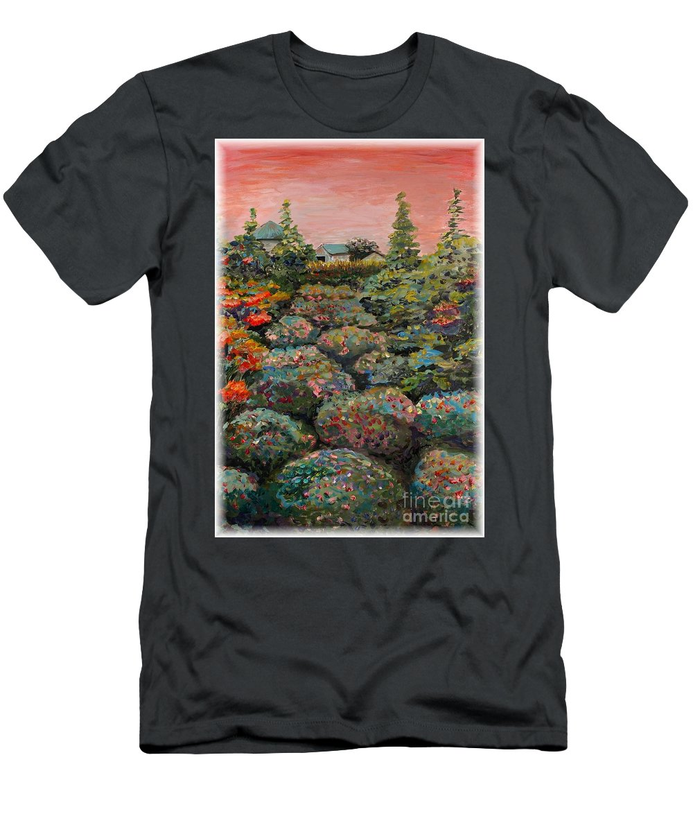 Minnesota Men's T-Shirt (Athletic Fit) featuring the painting Minnesota Memories by Nadine Rippelmeyer