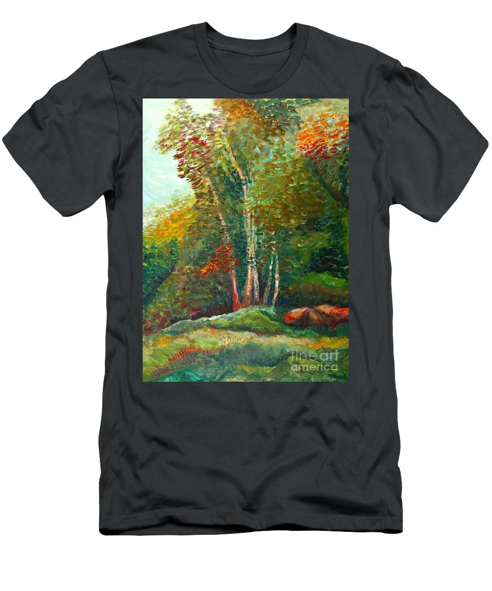 Landscape T-Shirt featuring the painting Minnesota Quartet by Nadine Rippelmeyer