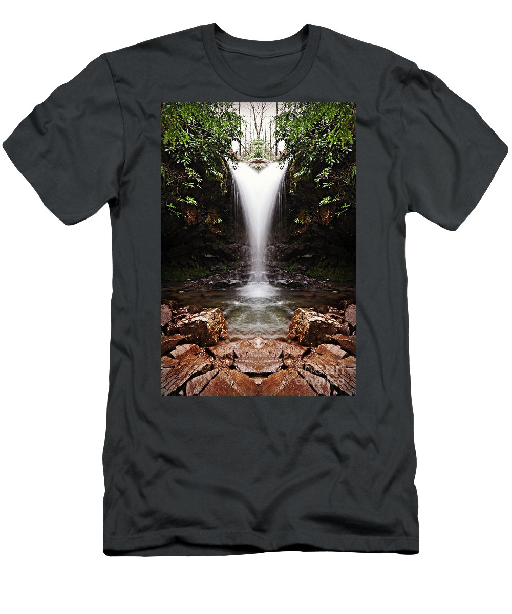 Tennessee T-Shirt featuring the mixed media Mirror Falls by Eric Liller