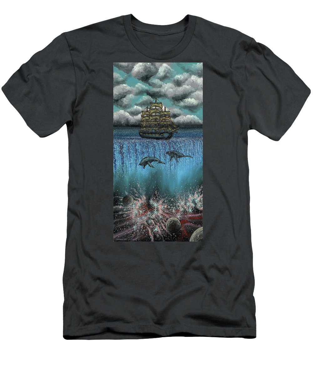 Galleon Men's T-Shirt (Athletic Fit) featuring the painting Missing You by Dwayne Hall