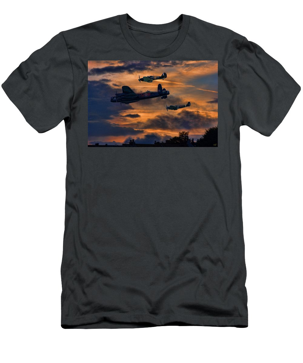 Mission Men's T-Shirt (Athletic Fit) featuring the photograph Mission Accomplished Homeward Bound by Chris Lord