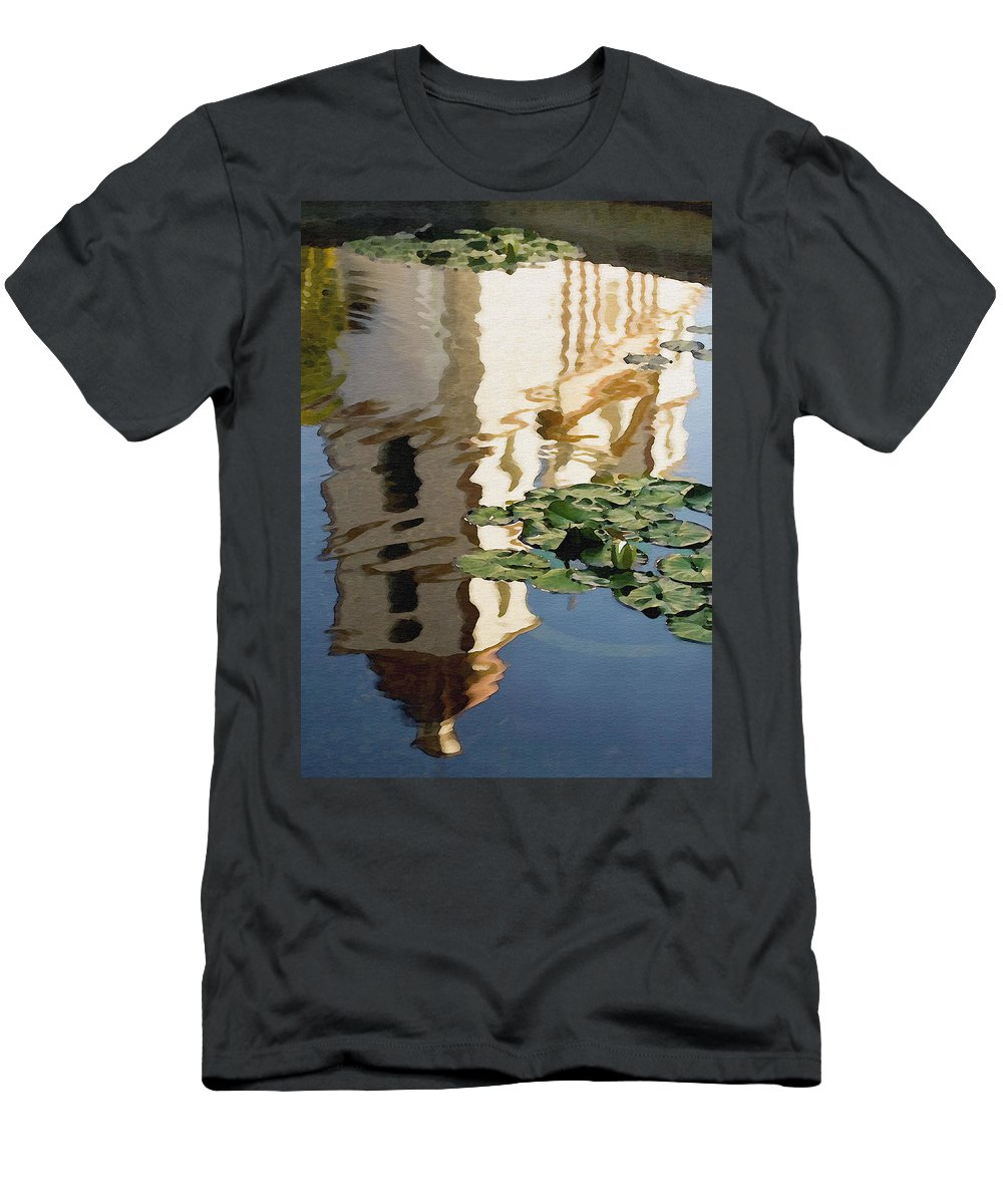 Reflection Men's T-Shirt (Athletic Fit) featuring the digital art Mission Reflection by Sharon Foster
