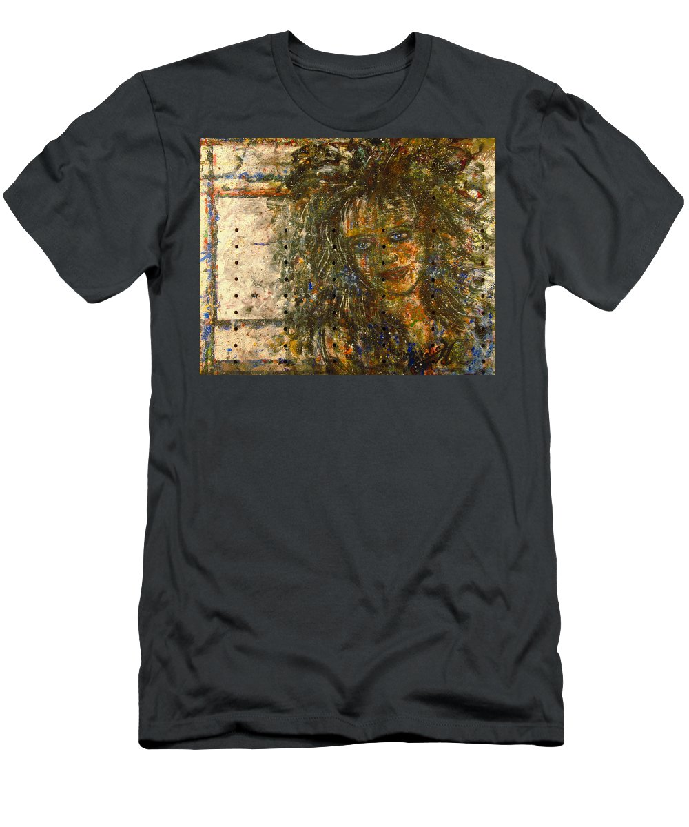 Expressionism Men's T-Shirt (Athletic Fit) featuring the painting Mistress by Natalie Holland