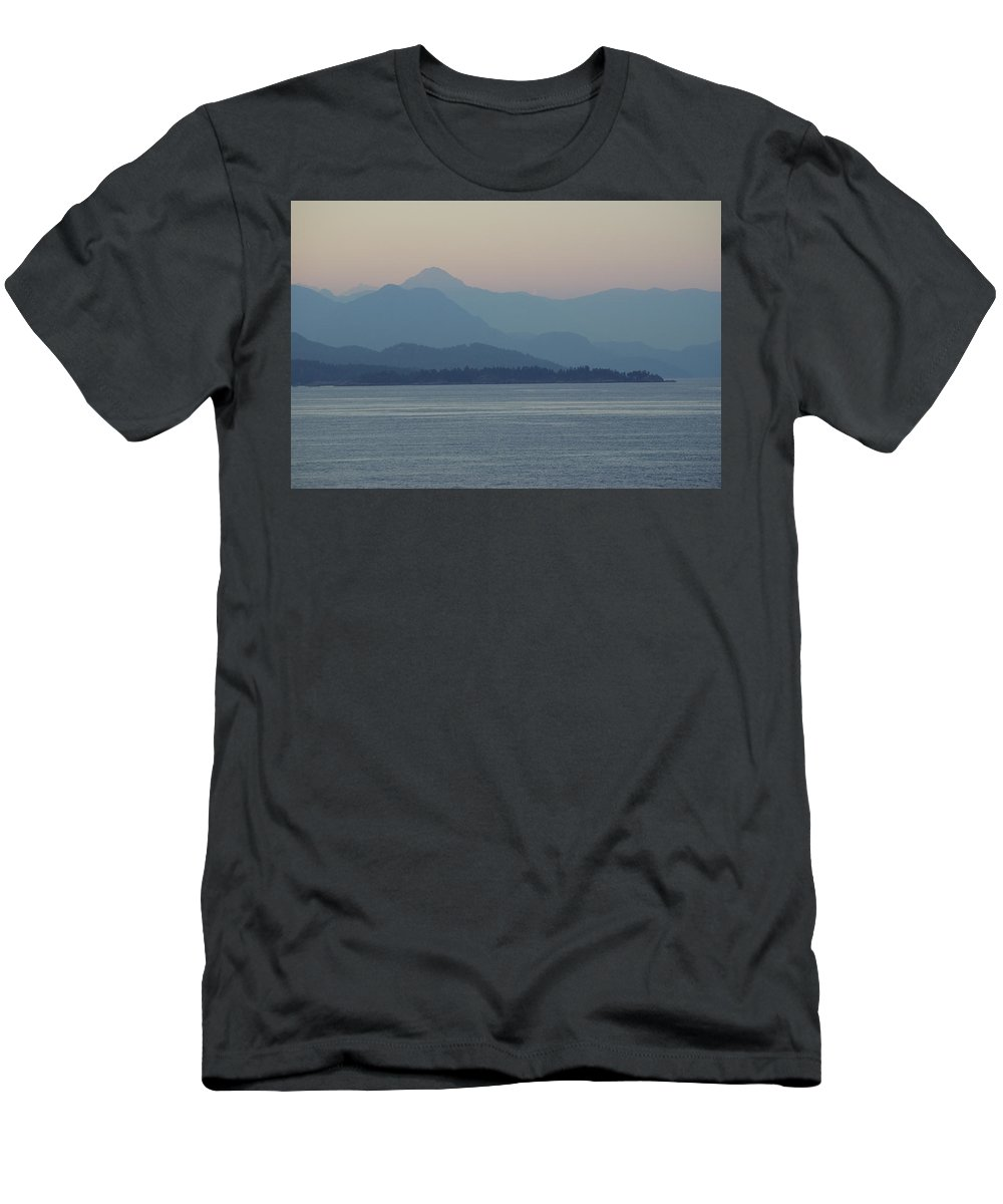 Men's T-Shirt (Athletic Fit) featuring the photograph Misty Hills On The Strait by Cindy Johnston