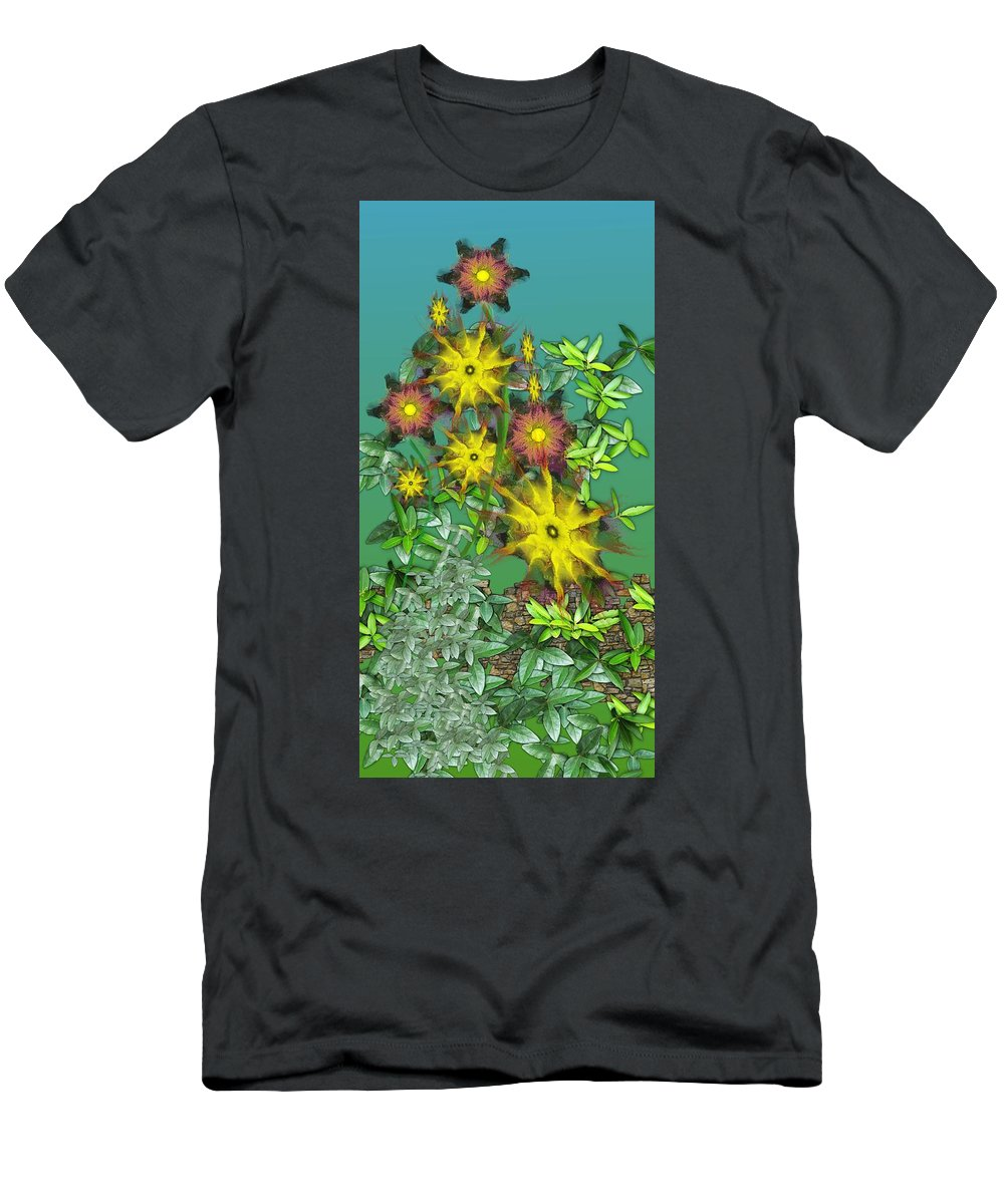 Flowers T-Shirt featuring the digital art Mixed Flowers by David Lane