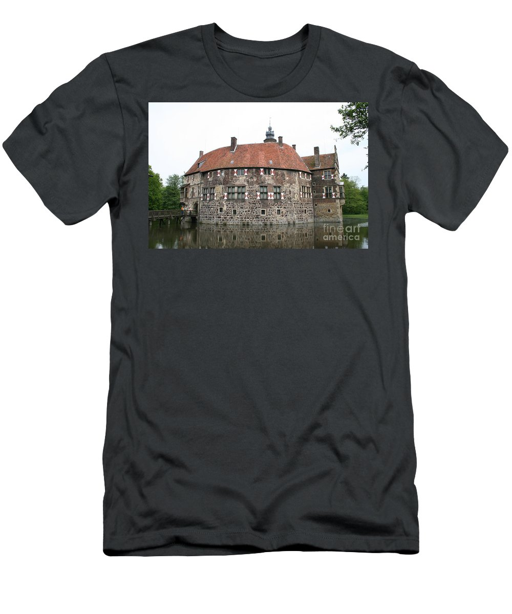 Castle Men's T-Shirt (Athletic Fit) featuring the photograph Moated Castle Vischering by Christiane Schulze Art And Photography