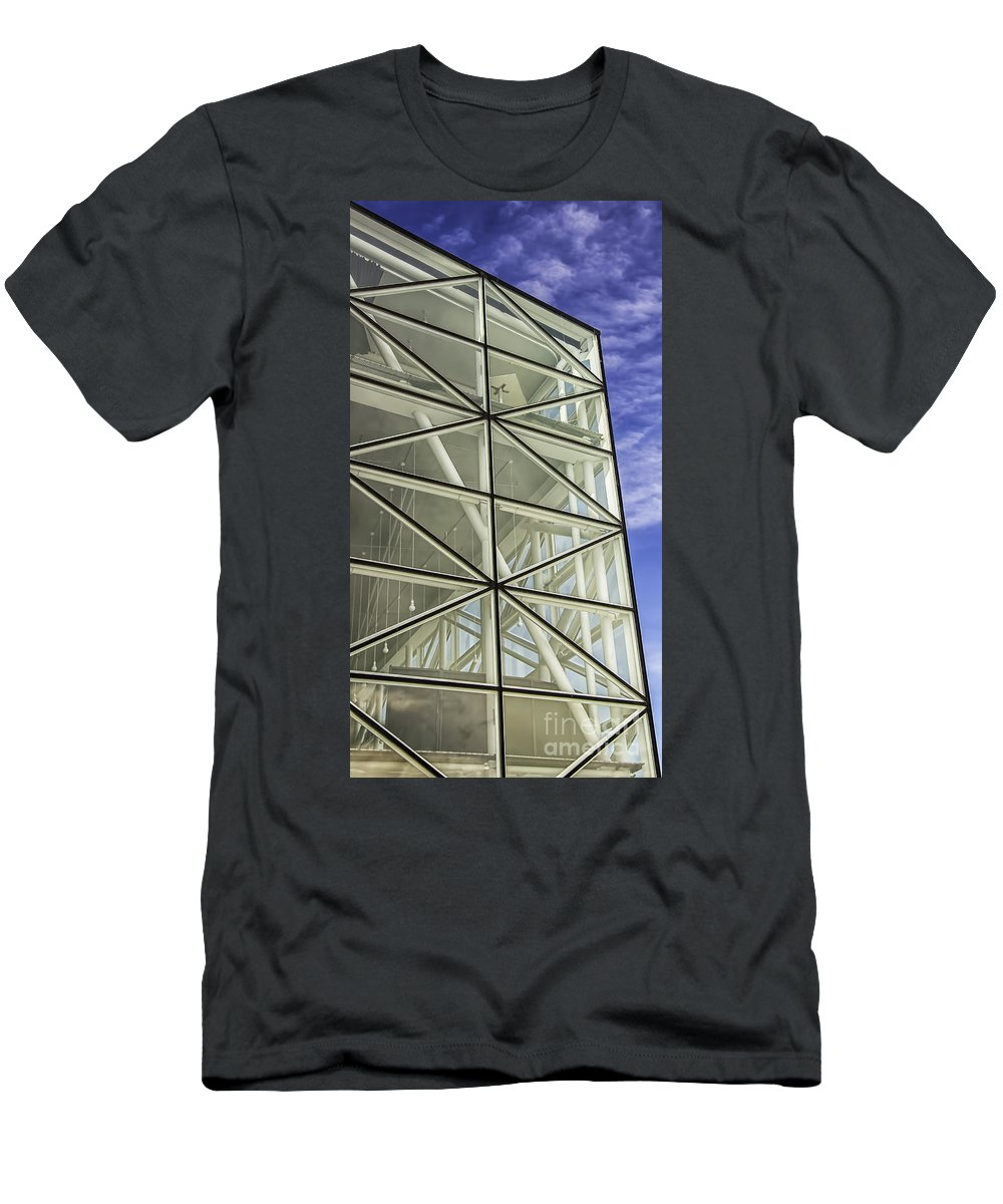 Architecture Men's T-Shirt (Athletic Fit) featuring the photograph Modern Detail Bright by Antony McAulay