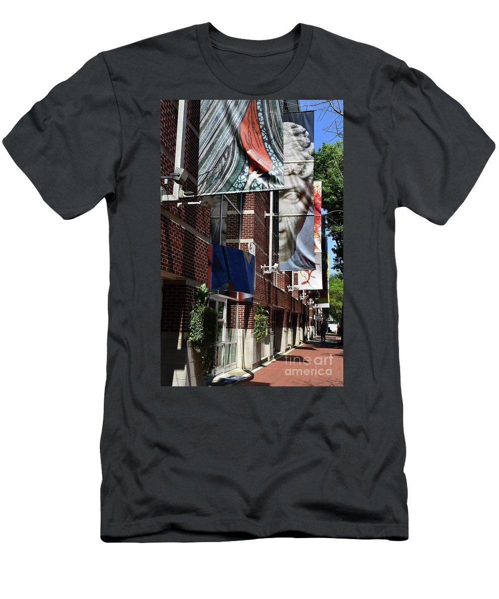 Scenic Tours Men's T-Shirt (Athletic Fit) featuring the photograph Modern Signage by Skip Willits