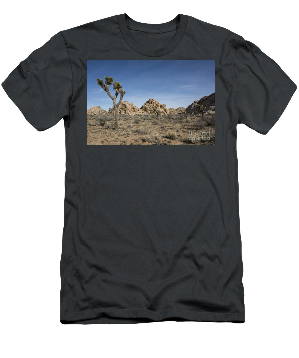 America Men's T-Shirt (Athletic Fit) featuring the photograph Mohave Desert by Juli Scalzi