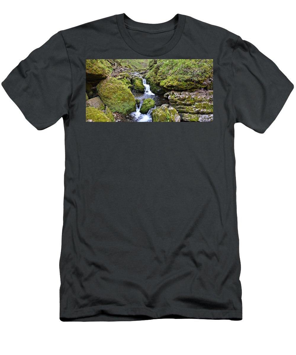 Mossy Men's T-Shirt (Athletic Fit) featuring the photograph Moine Panorama by Bonfire Photography