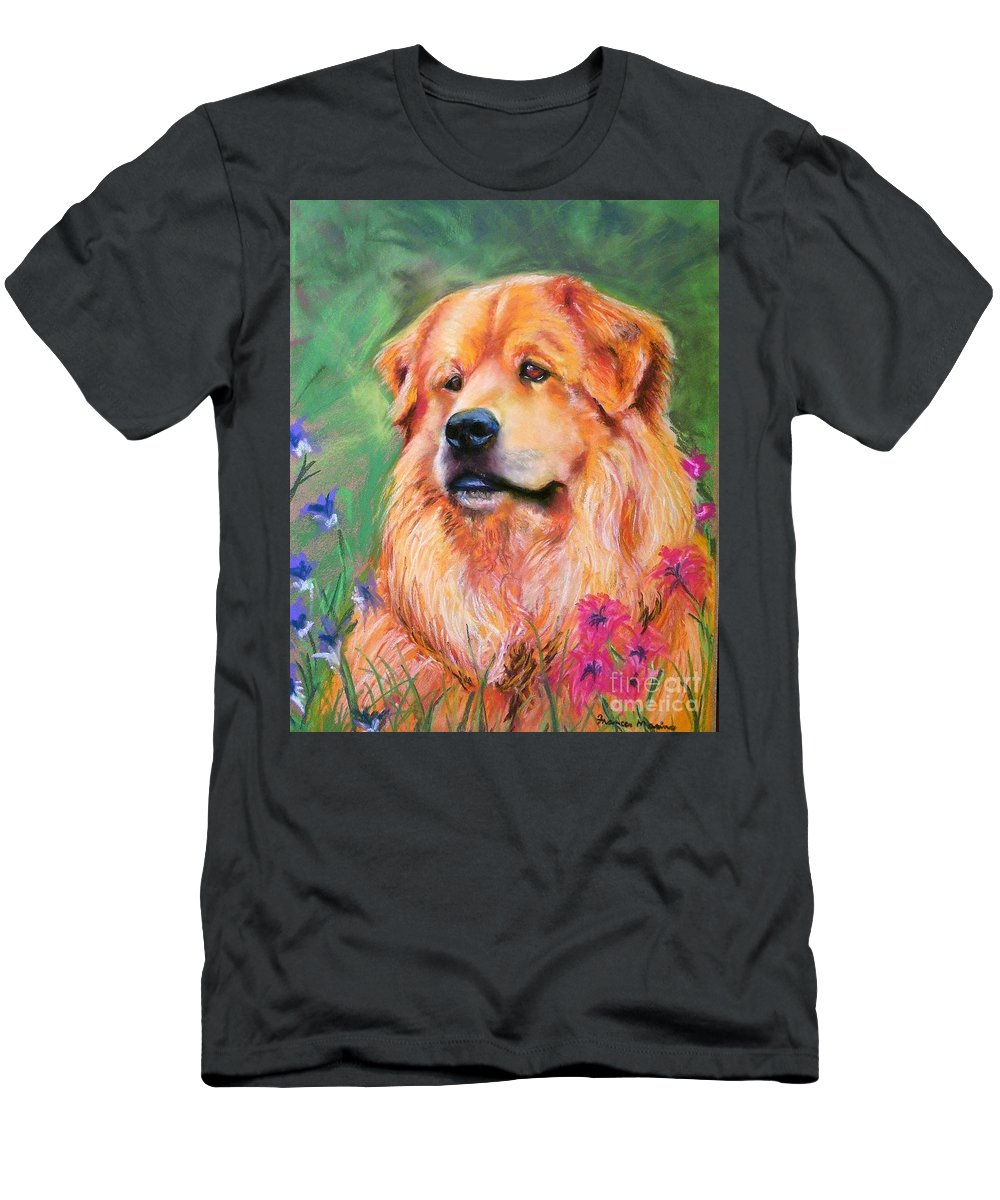 Chow Men's T-Shirt (Athletic Fit) featuring the painting Molly by Frances Marino