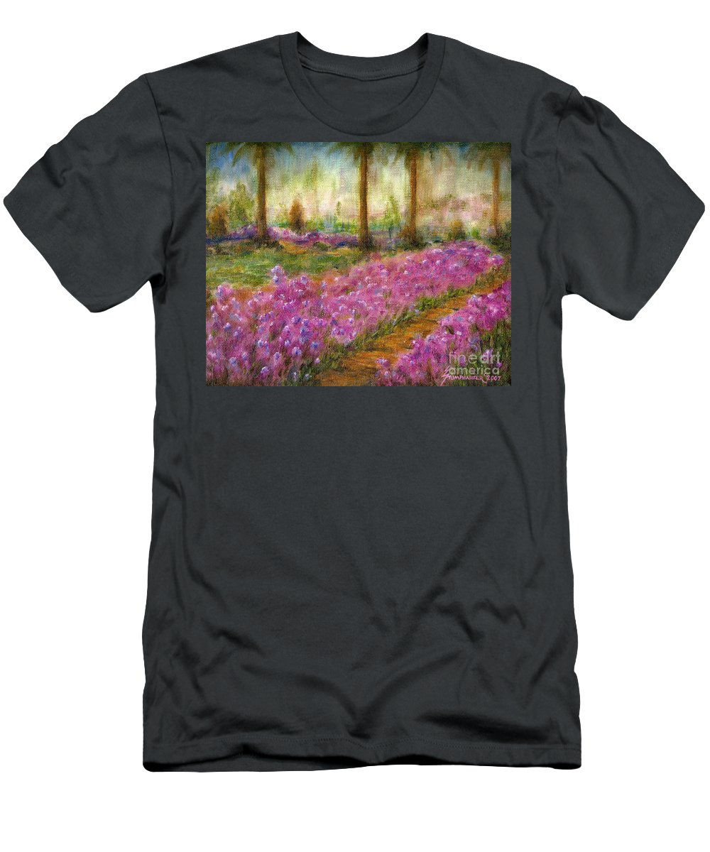 Monet T-Shirt featuring the painting Monet's Garden in Cannes by Jerome Stumphauzer