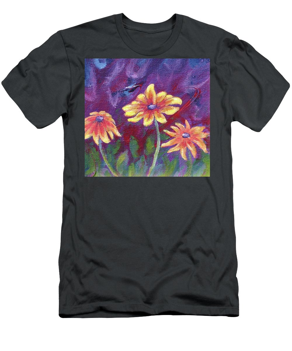 Small Acrylic Painting Men's T-Shirt (Athletic Fit) featuring the painting Monet's Small Composition by Jennifer McDuffie
