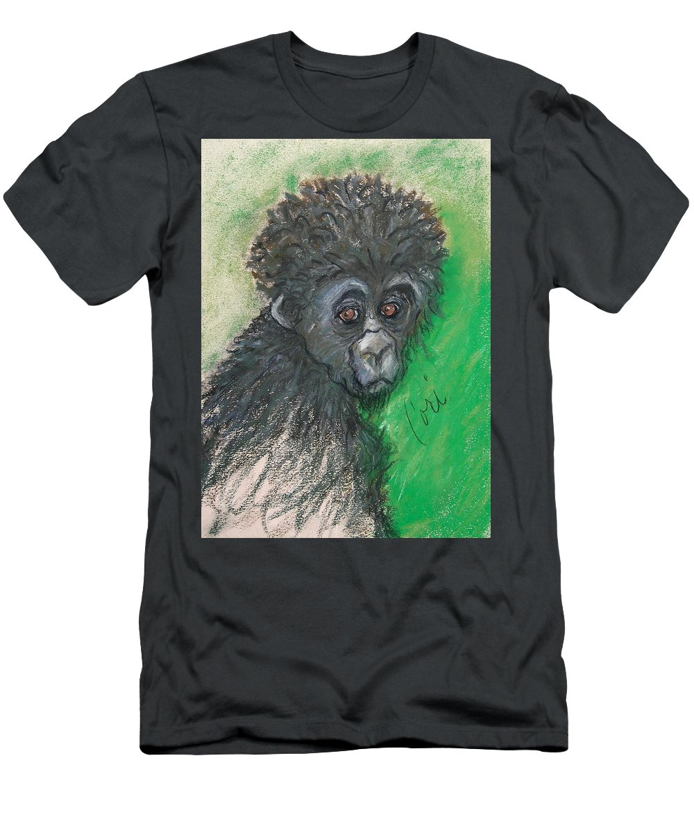 Monkey Men's T-Shirt (Athletic Fit) featuring the drawing Monkey Business by Cori Solomon