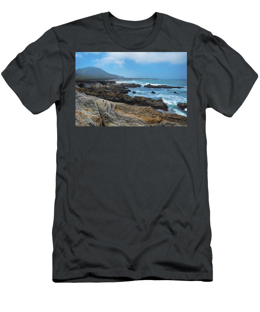 Montana De Oro Men's T-Shirt (Athletic Fit) featuring the photograph Montana De Oro State Park by Kyle Hanson