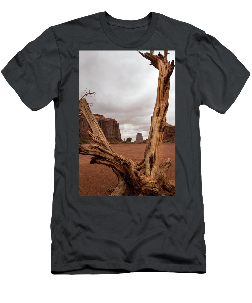 Deadwood T-Shirt featuring the photograph Monument Valley deadwood by Roy Nierdieck