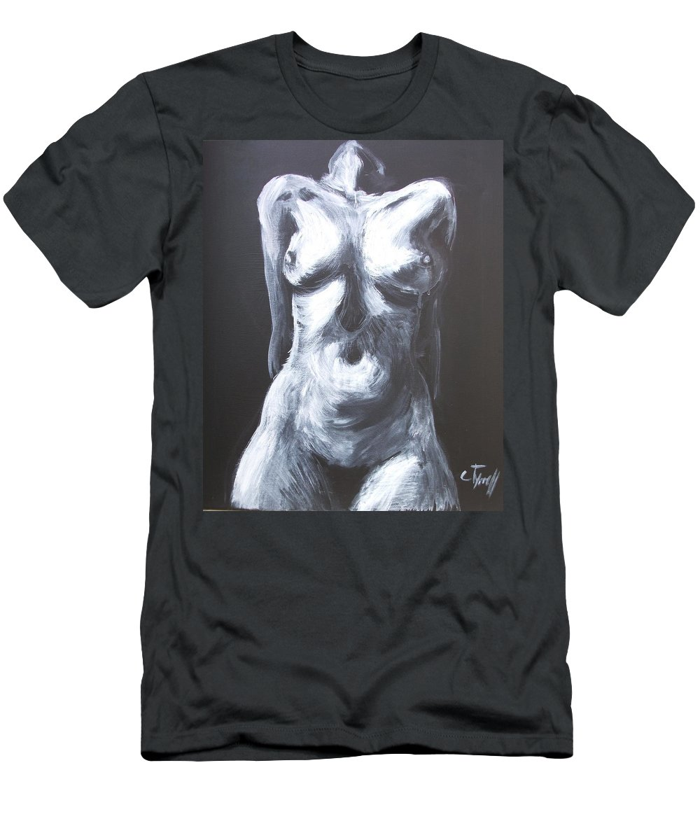 Monumental Body Men's T-Shirt (Athletic Fit) featuring the painting Monumental Body by Carmen Tyrrell
