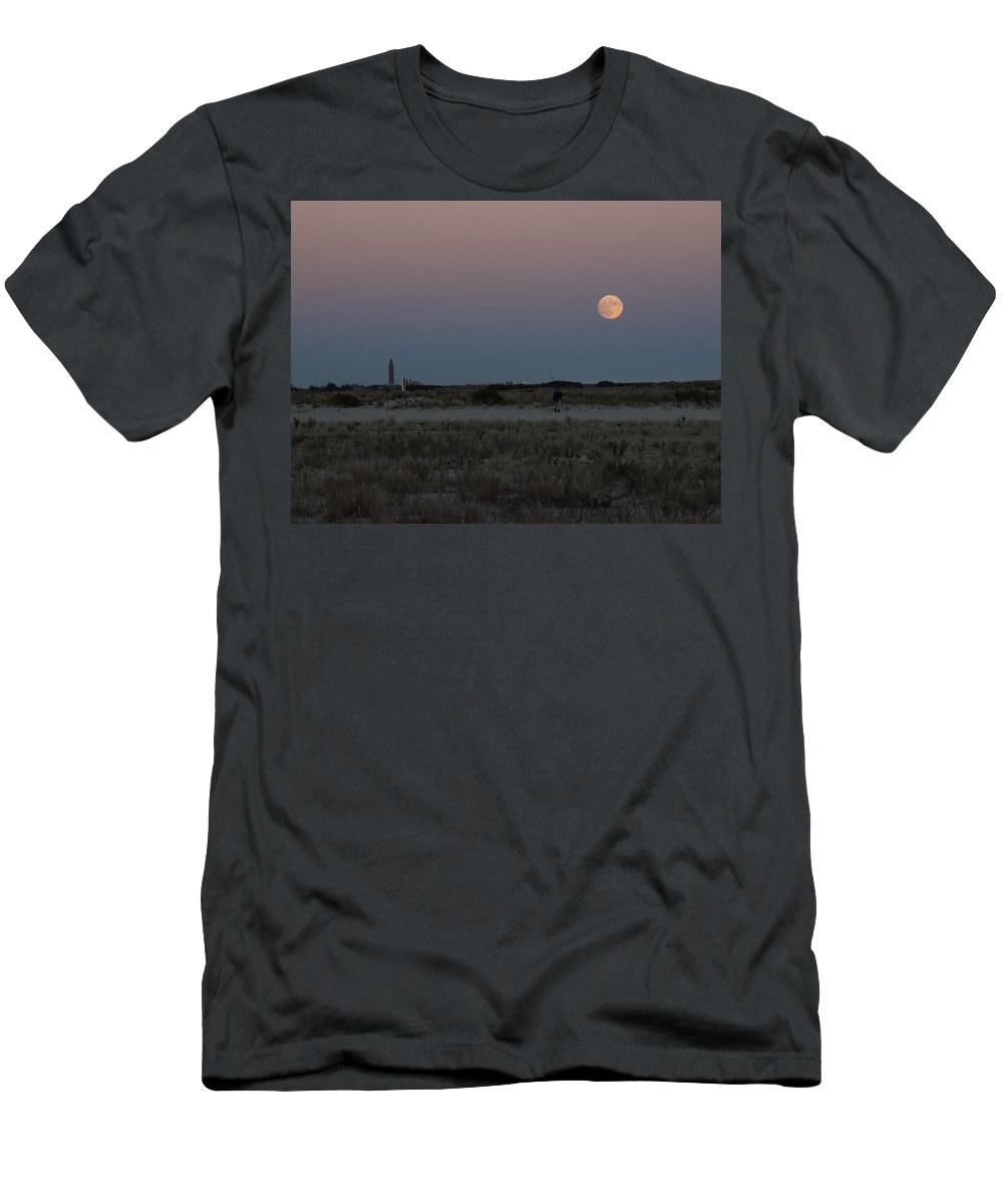 Men's T-Shirt (Athletic Fit) featuring the photograph Moon Beach by Ron Rossiello
