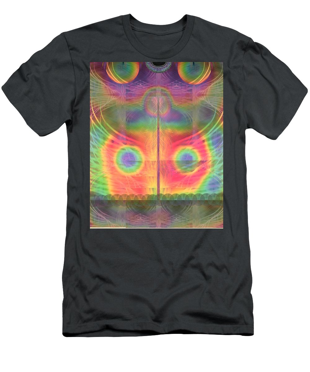 Astral Men's T-Shirt (Athletic Fit) featuring the digital art Moon Light by Sandrine Kespi