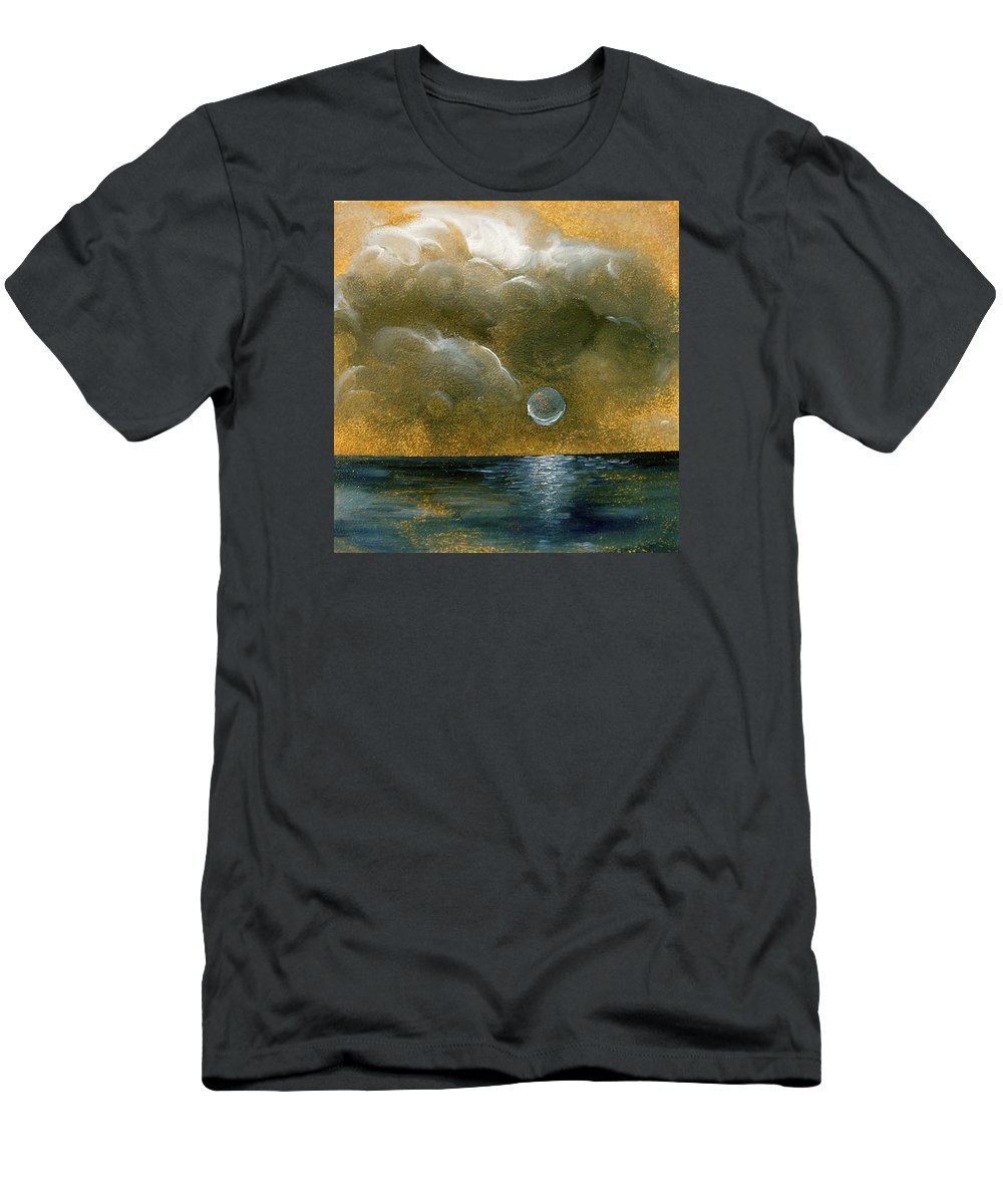Moon T-Shirt featuring the painting Moon Scape by Karen Doyle
