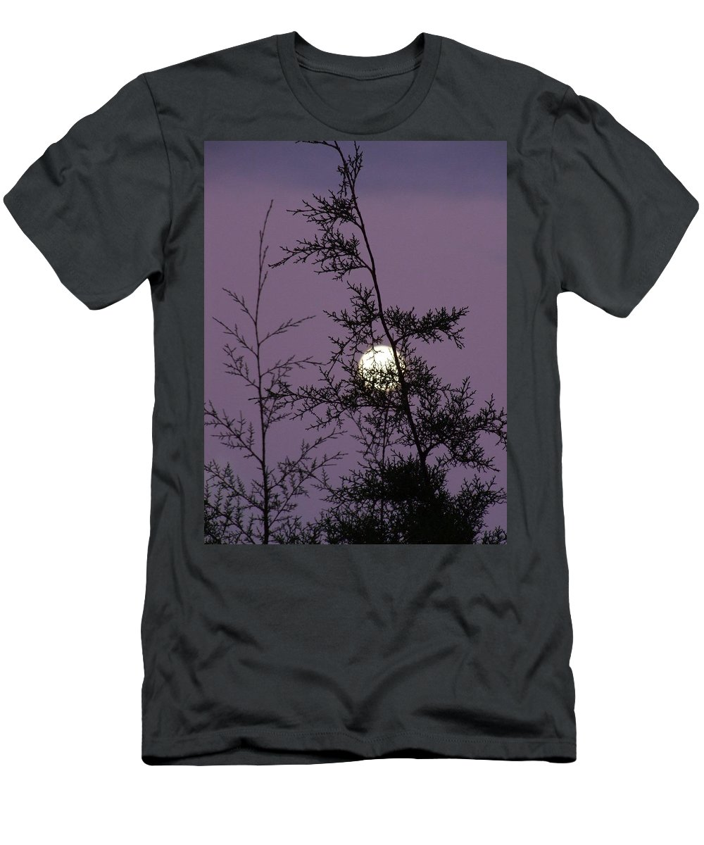 Mary Deal Men's T-Shirt (Athletic Fit) featuring the photograph Moon Trees by Mary Deal