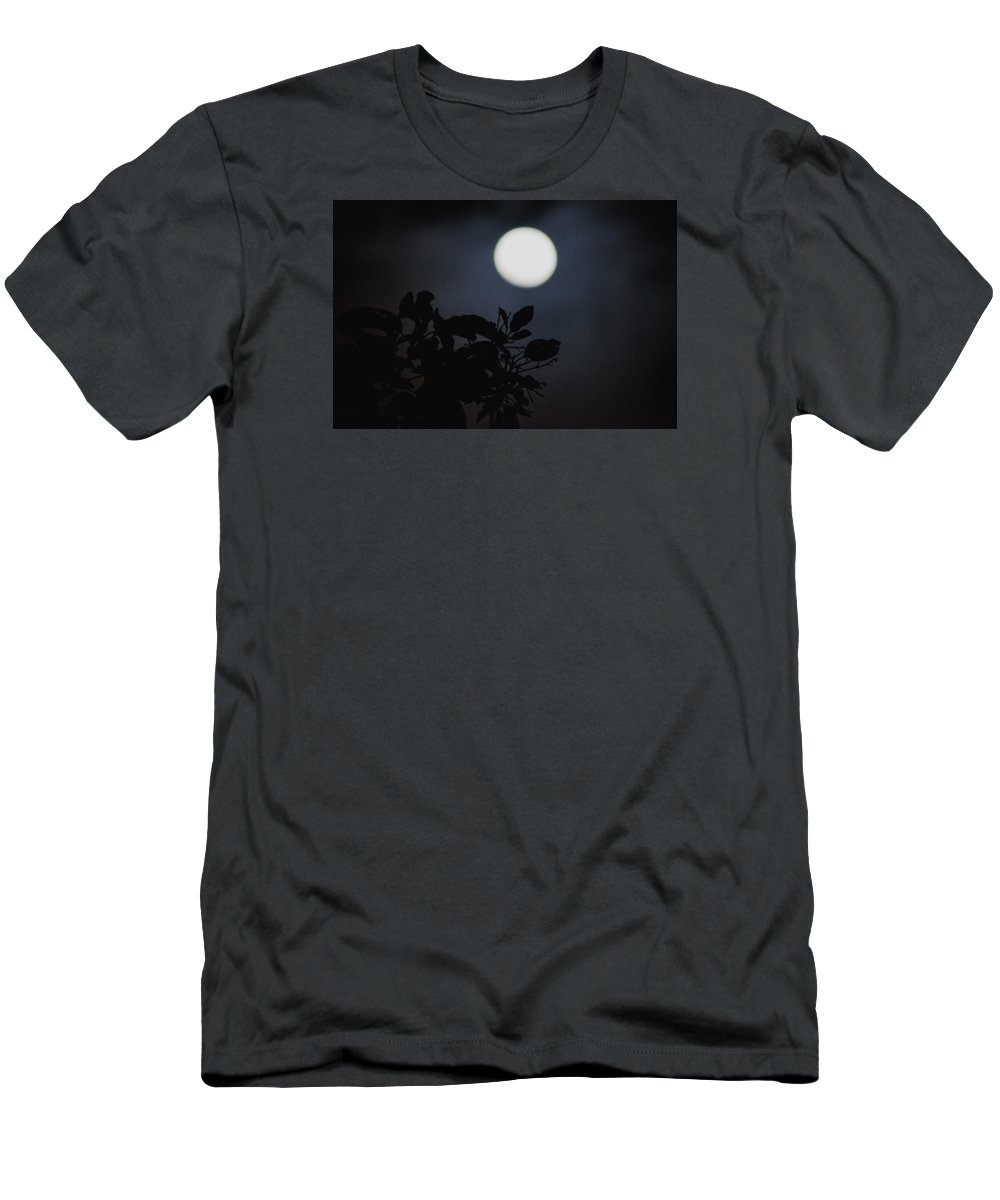 The Moon Men's T-Shirt (Athletic Fit) featuring the photograph Moonlight And Tree 1 by Totto Ponce