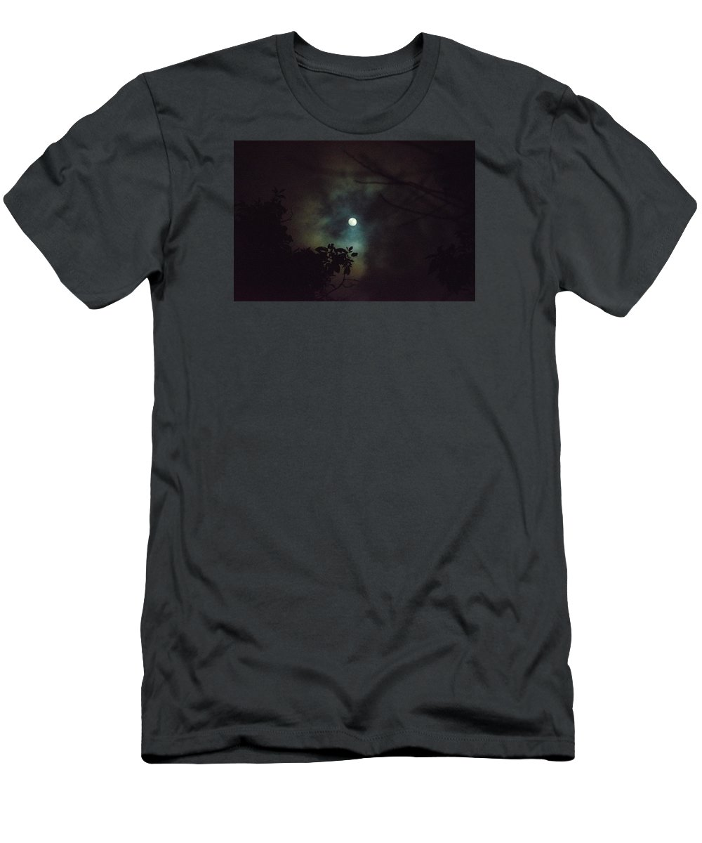 The Moon Men's T-Shirt (Athletic Fit) featuring the photograph Moonlight And Tree 4 by Totto Ponce