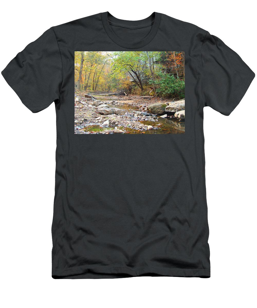 Moore\'s Creek Men's T-Shirt (Athletic Fit) featuring the photograph Moore's Creek by Terry Anderson