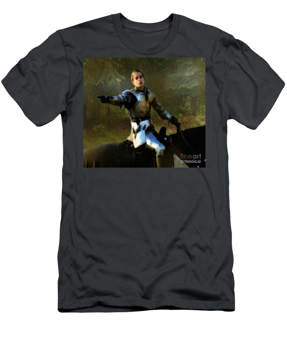 Knight Men's T-Shirt (Athletic Fit) featuring the painting Mordred Rallies His Troops by RC DeWinter