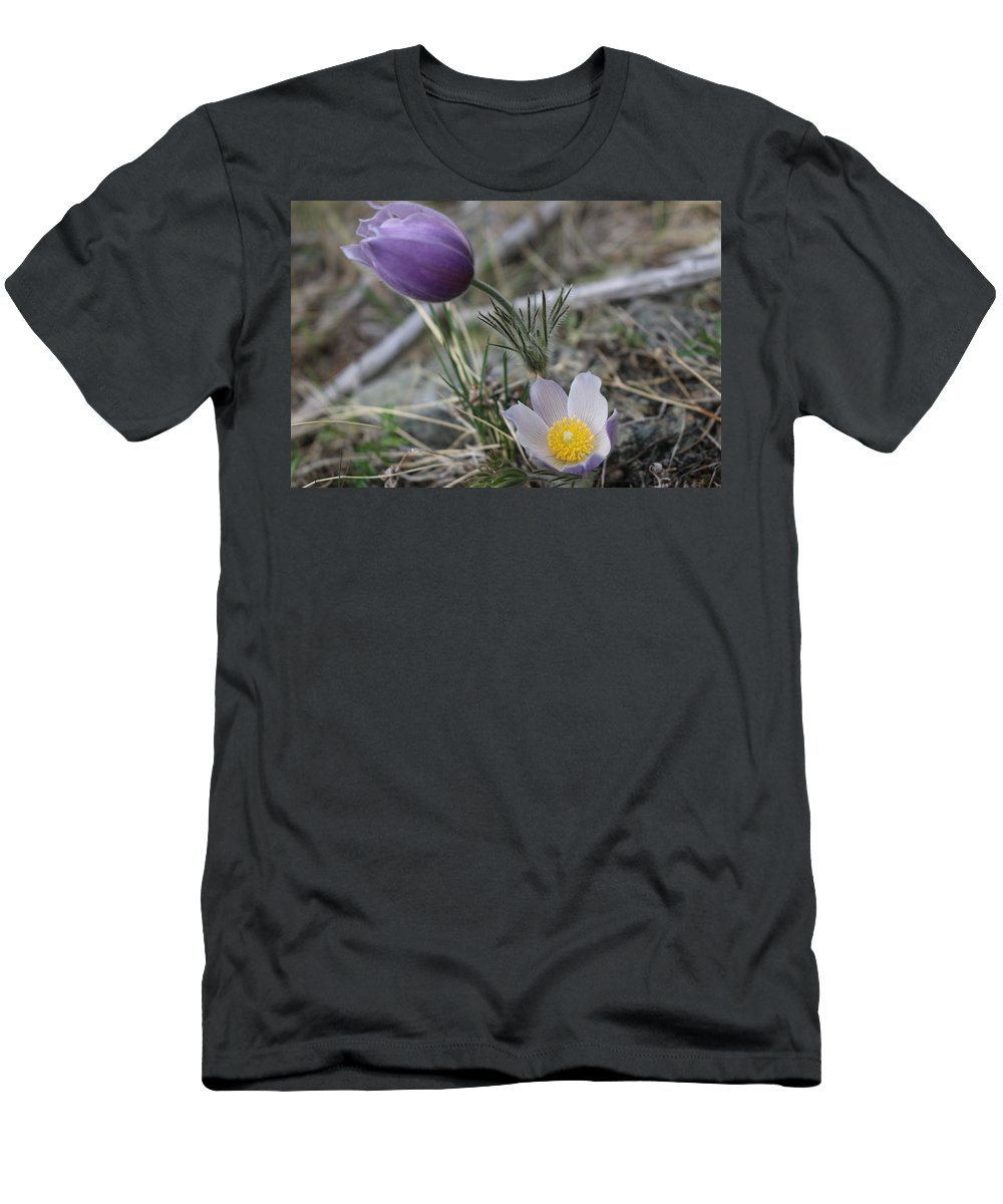 Flower Men's T-Shirt (Athletic Fit) featuring the photograph More Purple Flowers by Jesse Woodward