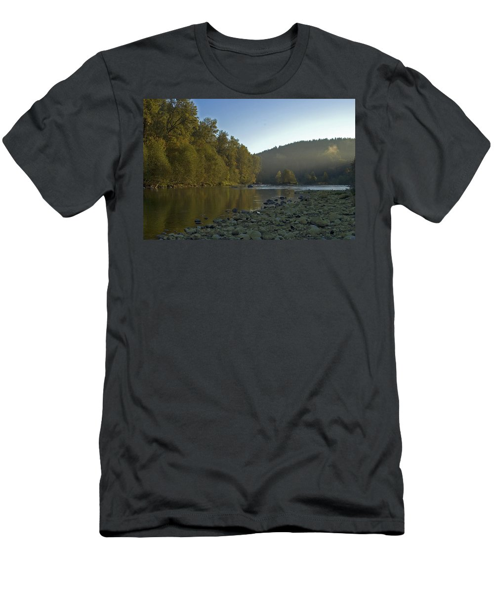River Men's T-Shirt (Athletic Fit) featuring the photograph Morning Air by Sara Stevenson