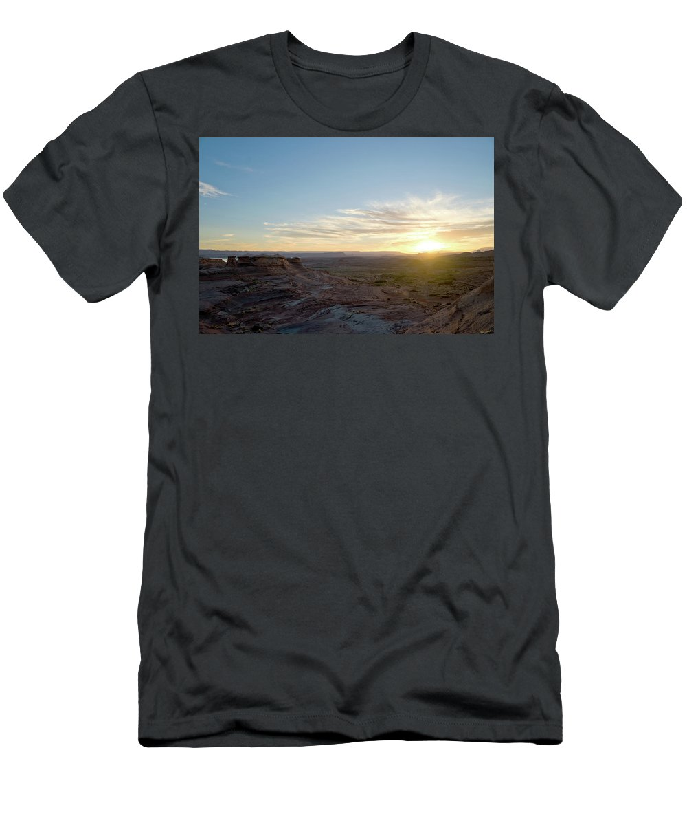 Adventure Men's T-Shirt (Athletic Fit) featuring the photograph Morning Formations by Mumbles and Grumbles