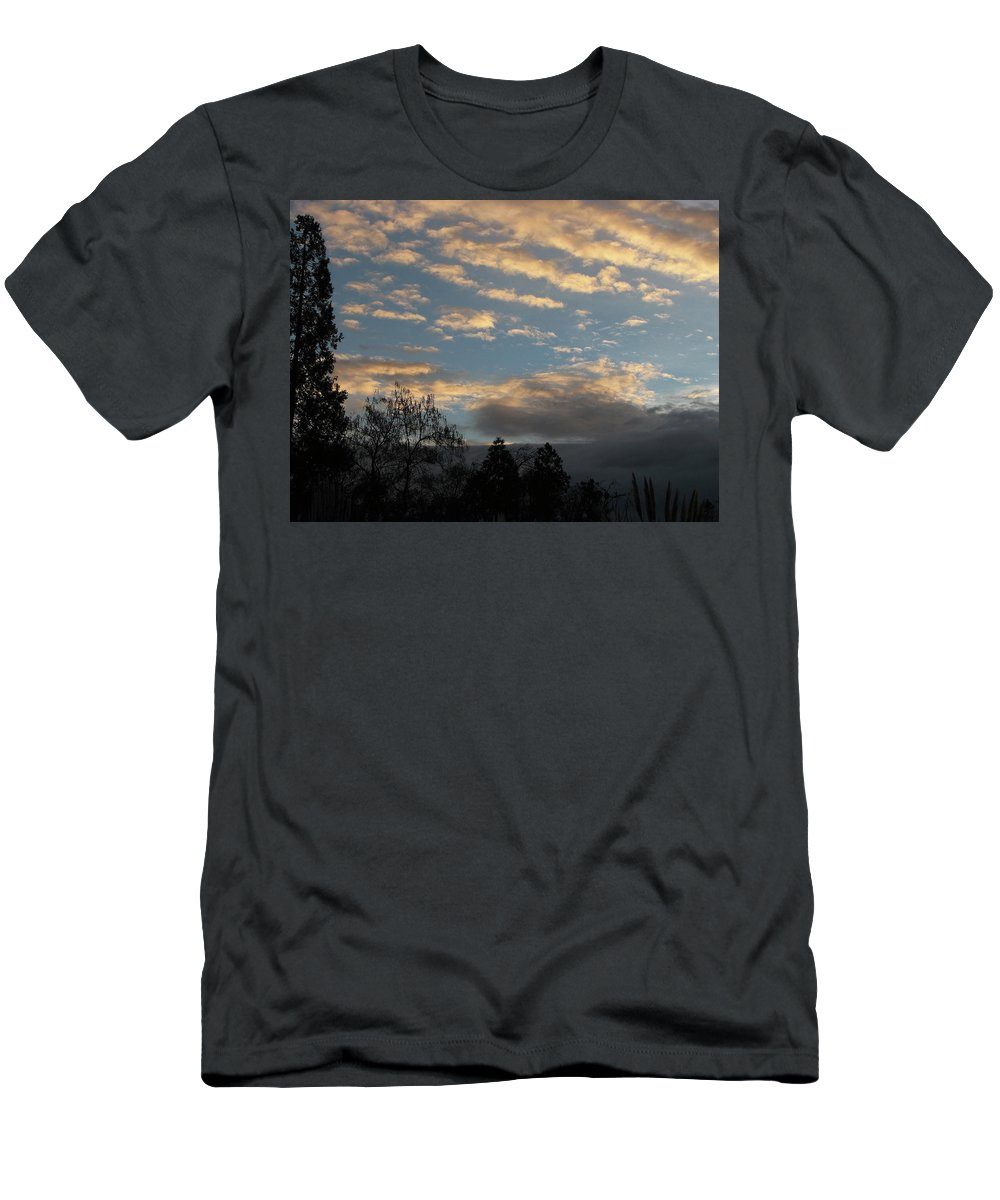 Blue Men's T-Shirt (Athletic Fit) featuring the photograph Morning Glory by Teri Schuster