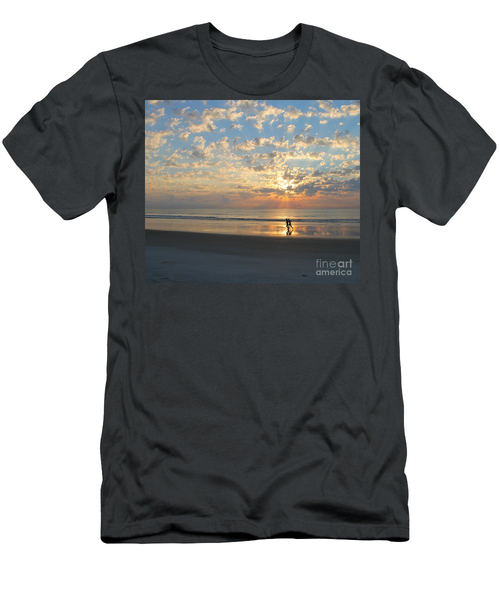 Run Men's T-Shirt (Athletic Fit) featuring the photograph Morning Run by LeeAnn Kendall