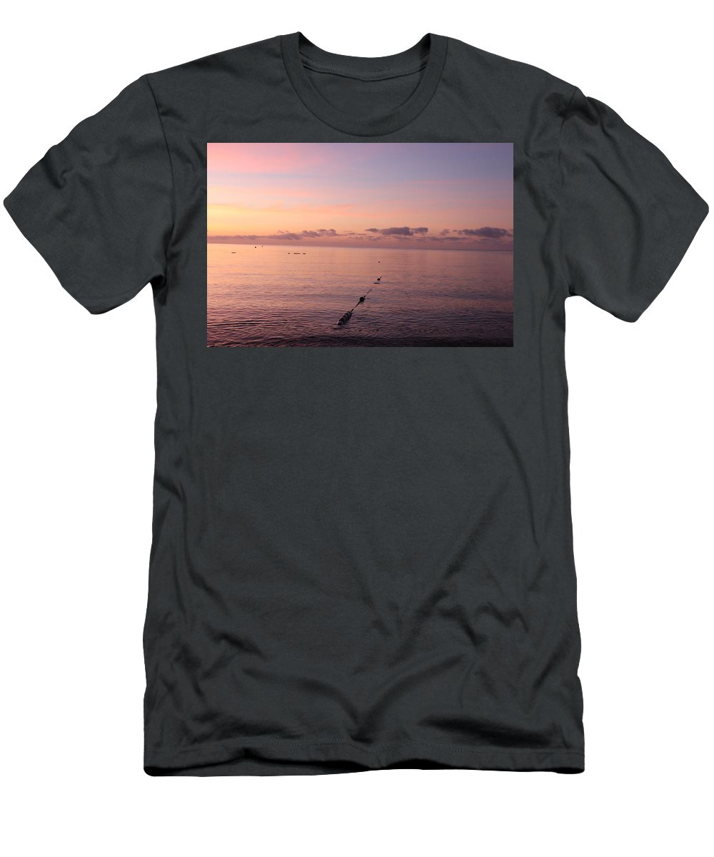 Sunrise Men's T-Shirt (Athletic Fit) featuring the photograph Morning Sunrise 09-02-18 # 3 by Maurio Francois
