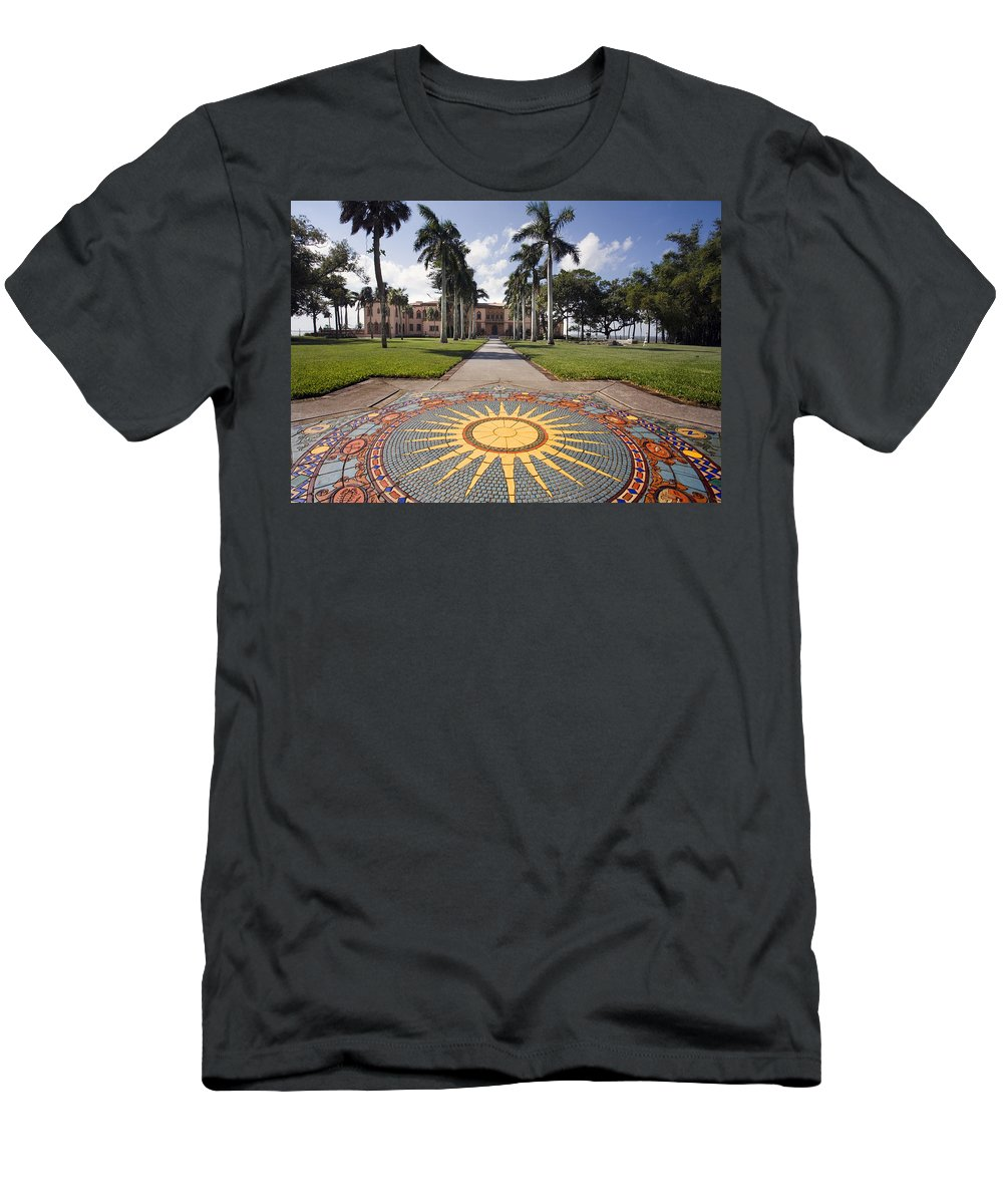 Mosaic Men's T-Shirt (Athletic Fit) featuring the photograph Mosaic At The Ca D by Mal Bray