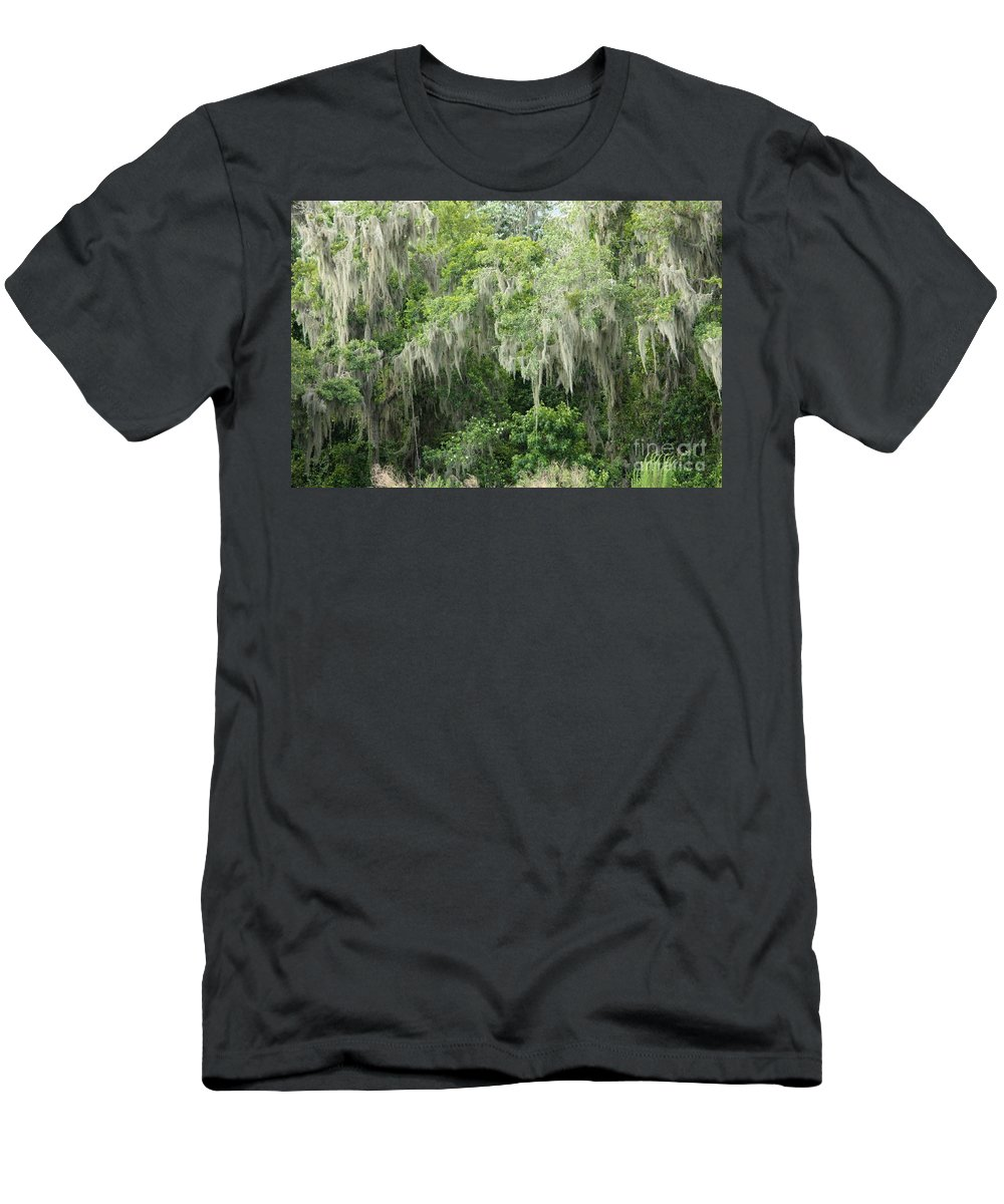 Moss Men's T-Shirt (Athletic Fit) featuring the photograph Mossy Branches by Carol Groenen