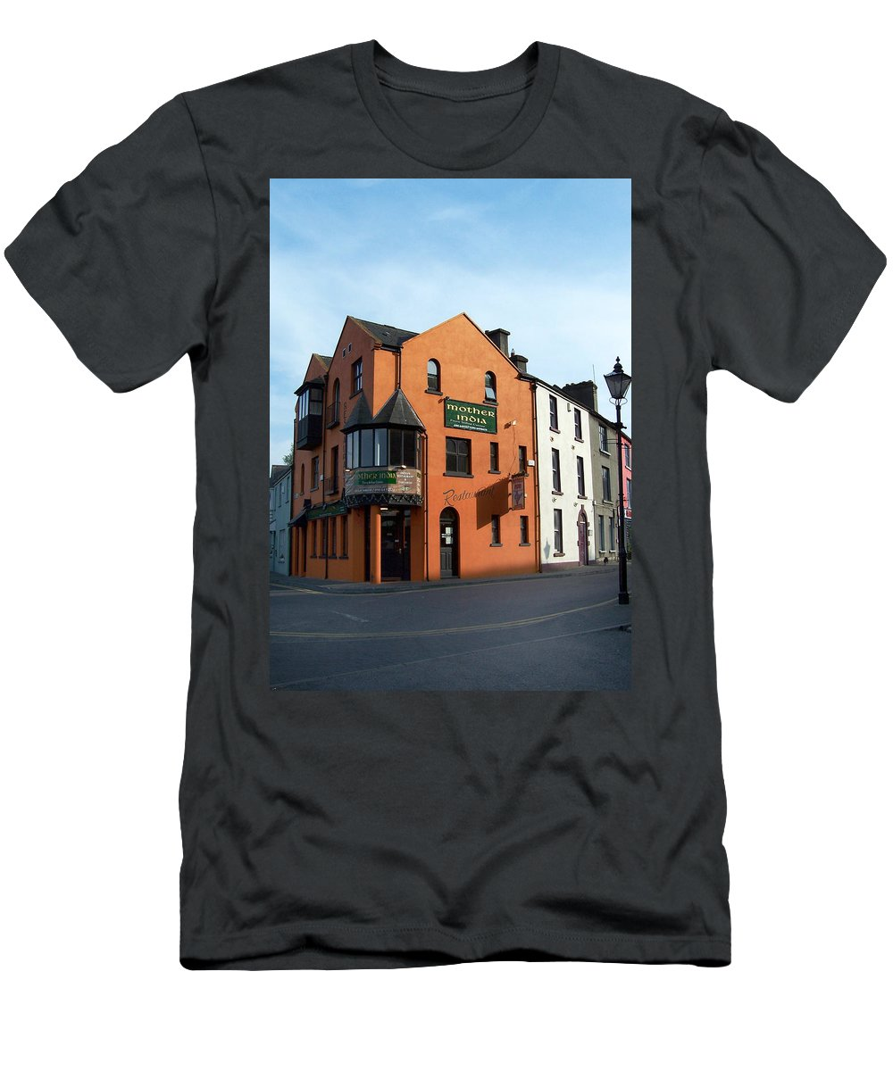 Ireland Men's T-Shirt (Athletic Fit) featuring the photograph Mother India Restaurant Athlone Ireland by Teresa Mucha