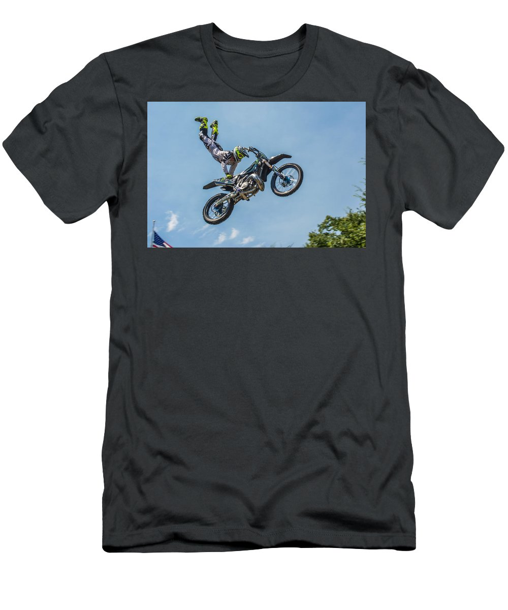Motocross Men's T-Shirt (Athletic Fit) featuring the photograph Motocross by Robert Carlsen