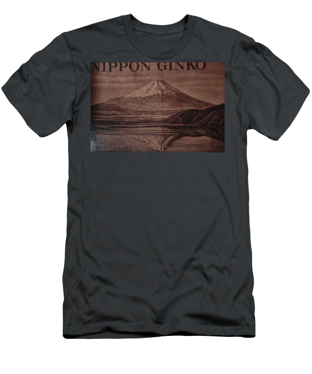 Mount Fuji Men's T-Shirt (Athletic Fit) featuring the photograph Mount Fuji by Rob Hans