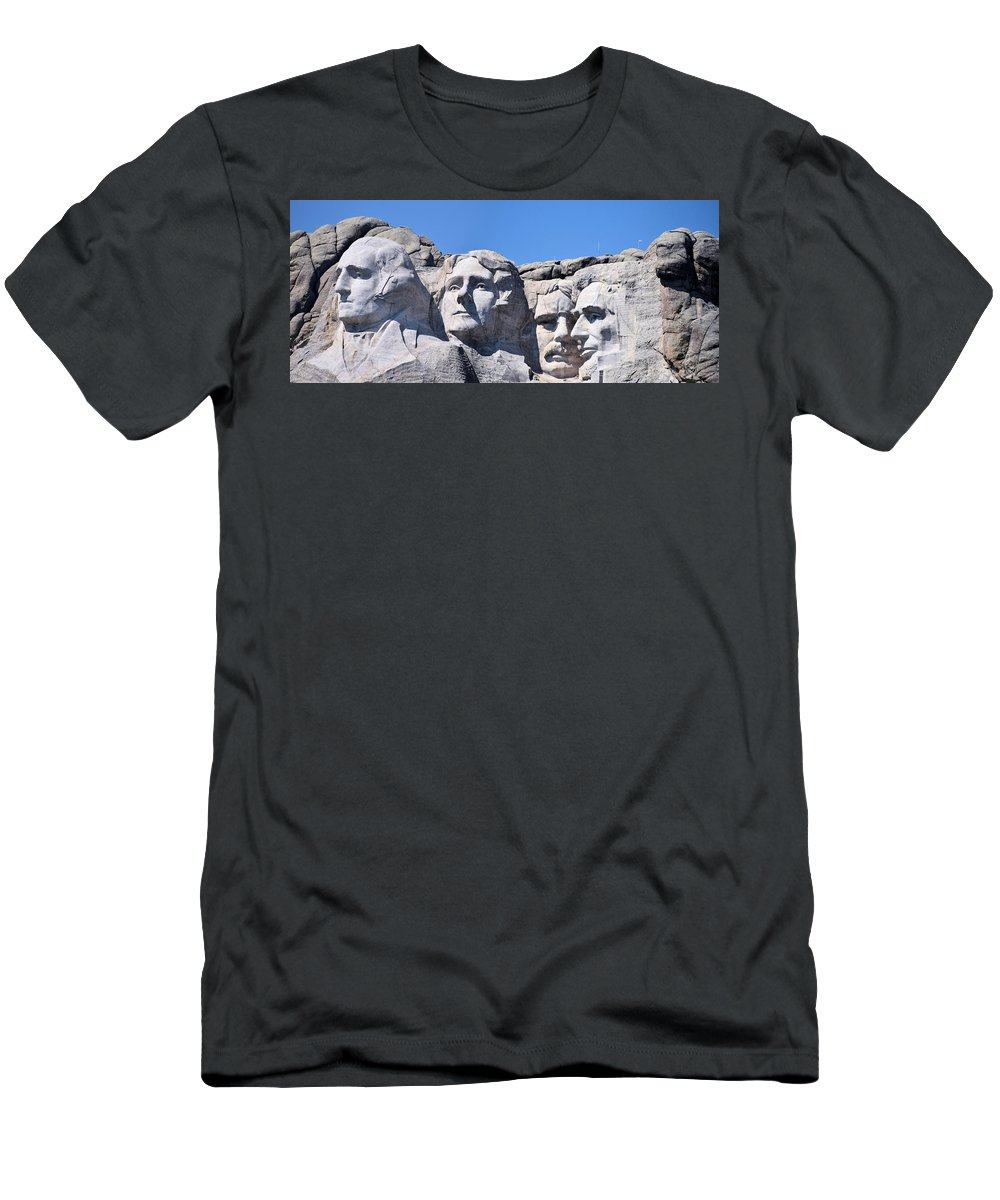 Mount Rushmore Men's T-Shirt (Athletic Fit) featuring the photograph Mount Rushmore by Bonfire Photography