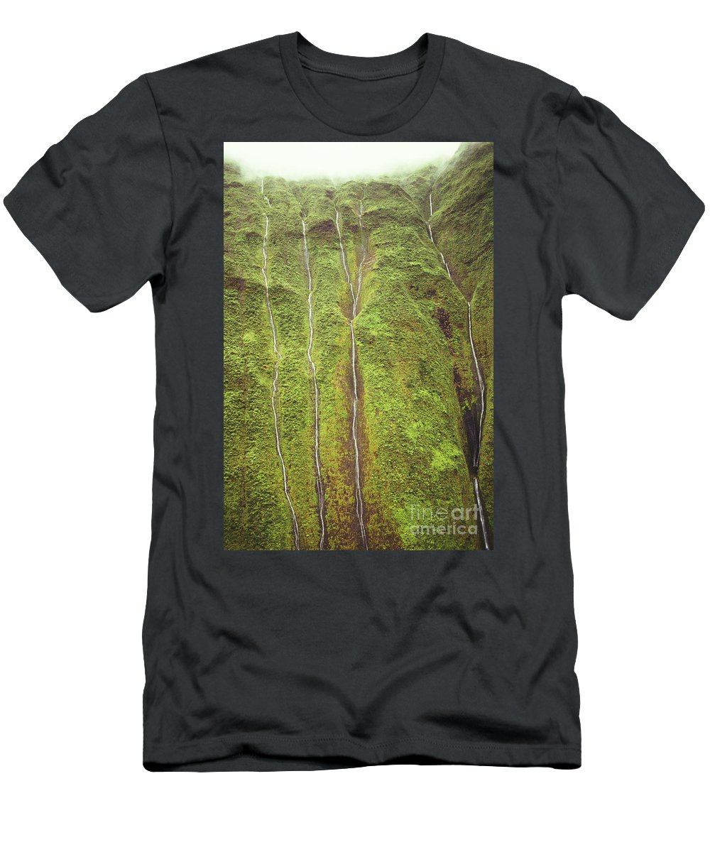 Beautiful Men's T-Shirt (Athletic Fit) featuring the photograph Mount Waialeale by Bob Abraham - Printscapes