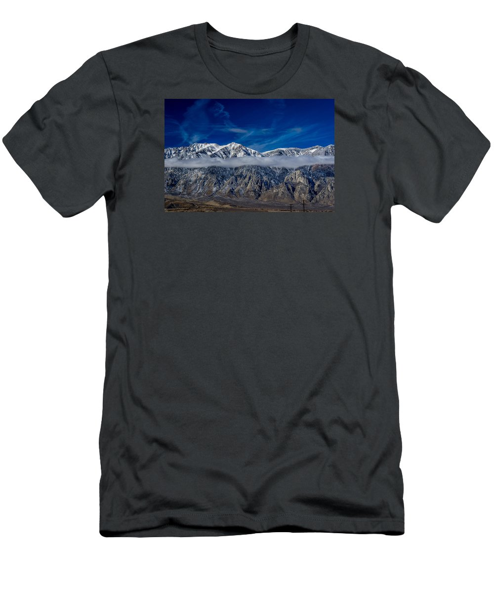 Mountains Men's T-Shirt (Athletic Fit) featuring the photograph Mountain Cloud by Kevin Beggs