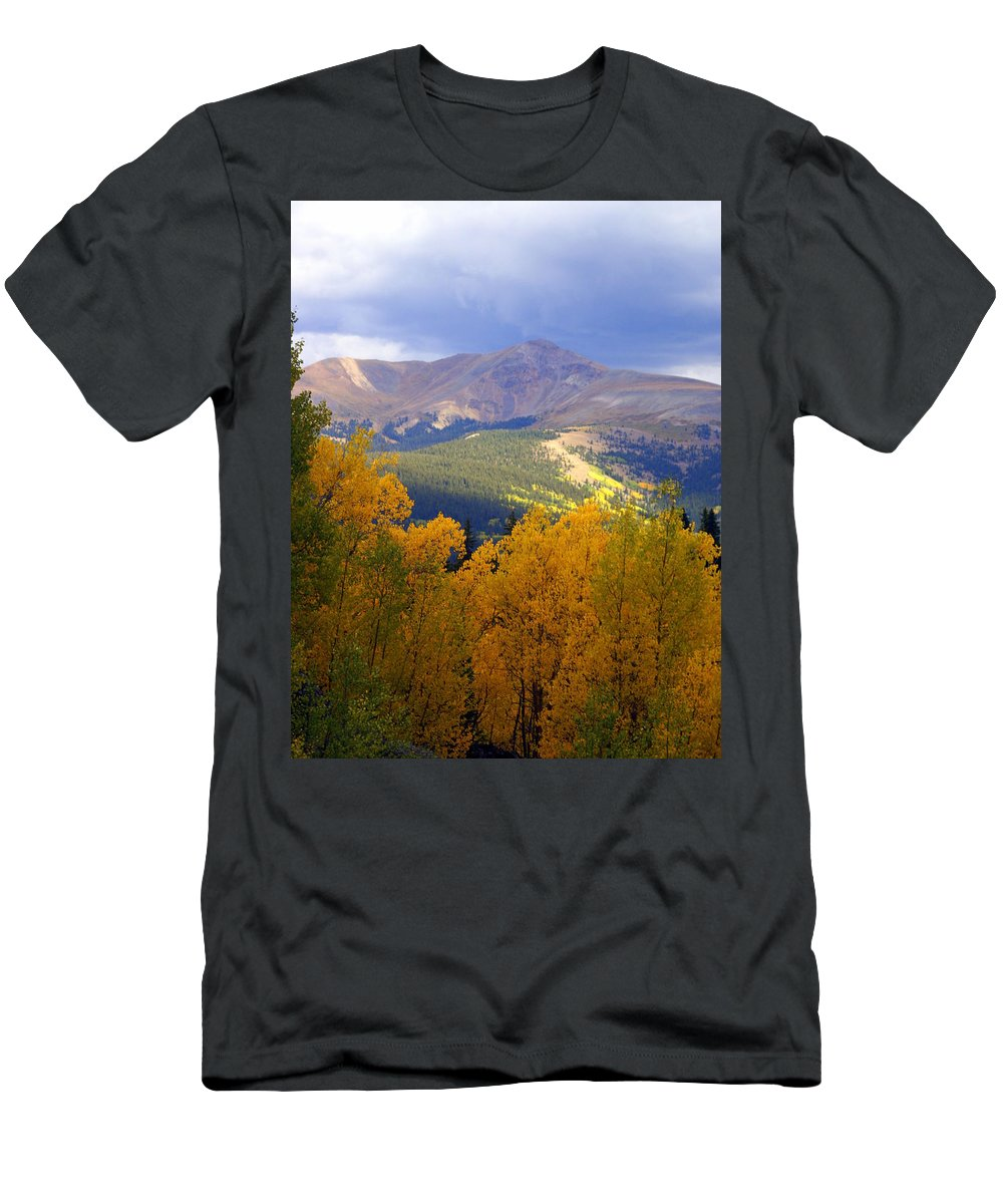 Colorado Men's T-Shirt (Athletic Fit) featuring the photograph Mountain Fall by Marty Koch